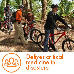 Deliver critical medicine in disasters